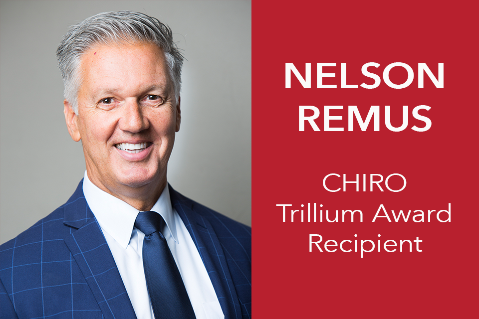 Nelson Remus Awarded CHIRO Trillium Award of the Human Rights