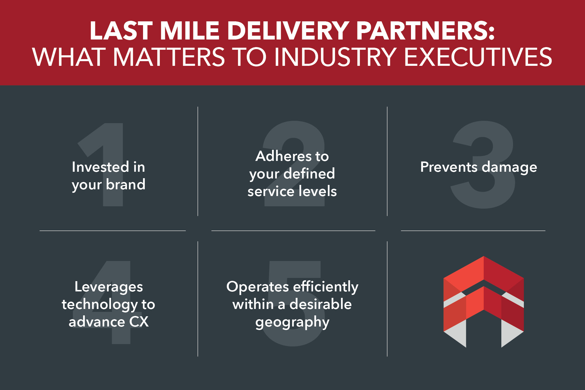 Last Mile Delivery Partners: What Matters to Executives